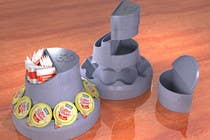 Proposition n° 21 du concours 3D Rendering pour Do some 3D Modelling for the Coffee Condiment Organizer