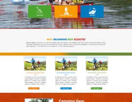 Nro 11 kilpailuun Web Design for Youth Outdoor Adventure and Service Organization website käyttäjältä allynutz