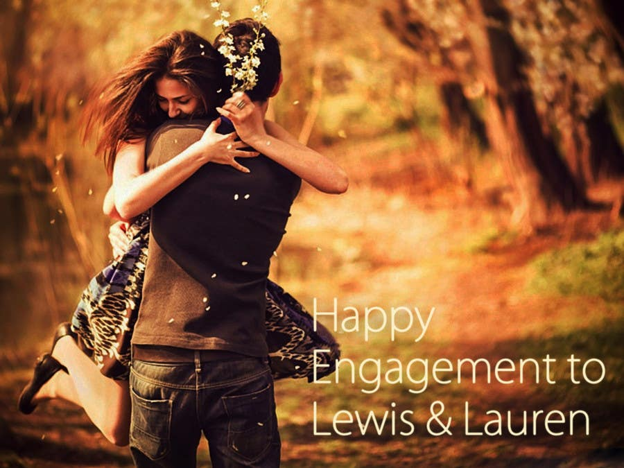 Contest Entry #40 for DESIGN SOME POSTERS FOR OUR ENGAGEMENT PARTY