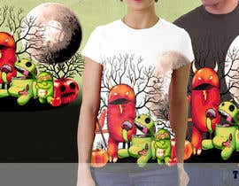 nº 34 pour Design a Tee for Android Halloween par totta00spy