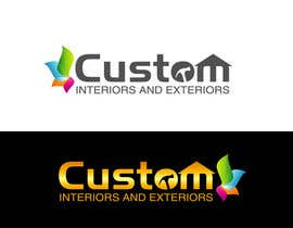 nº 53 pour Design a Logo for Custom Interiors and Exteriors par atikur2011