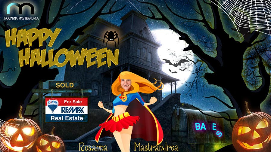 #18 for Design a Halloween postcard for a real estate agent by annahavana