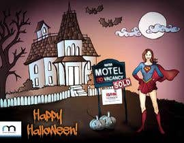 #22 untuk Design a Halloween postcard for a real estate agent oleh elenabsl