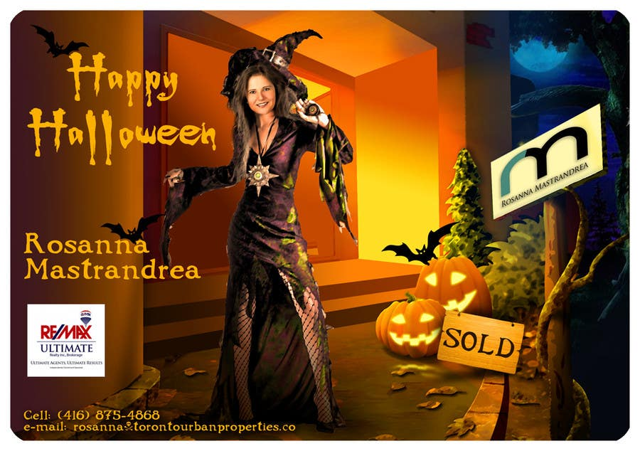 #15 for Design a Halloween postcard for a real estate agent by Spector01