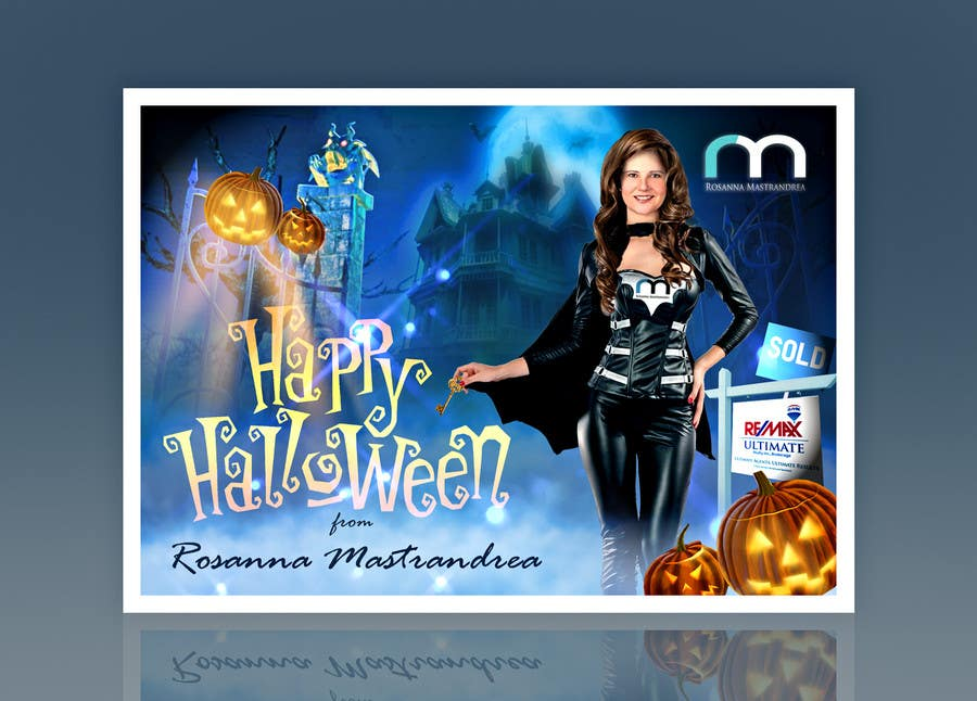 #23 for Design a Halloween postcard for a real estate agent by Spector01