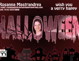 #12 untuk Design a Halloween postcard for a real estate agent oleh AlinutaM