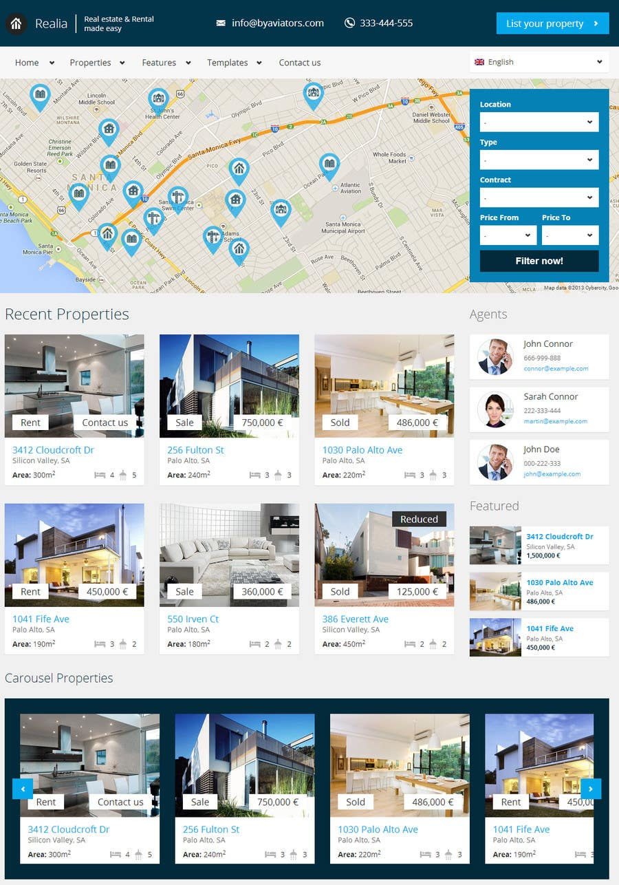 #7 for Build a Website for www.Commercialmls.net real estate website by flashraj
