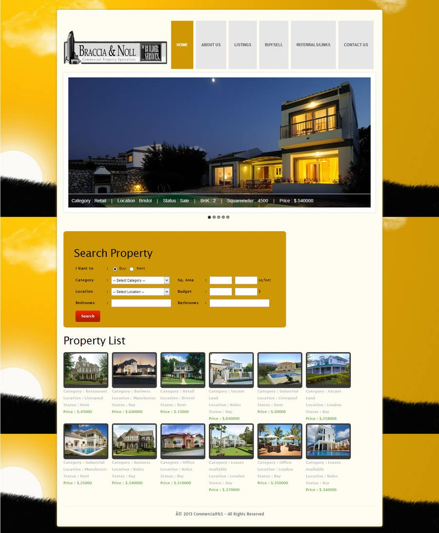 #22 for Build a Website for www.Commercialmls.net real estate website by finwaretech