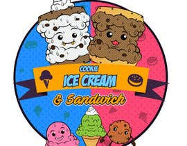 #35 for Cookie iceacream sandwich logo designed. In pop art/ comic theme by Bateriacrist