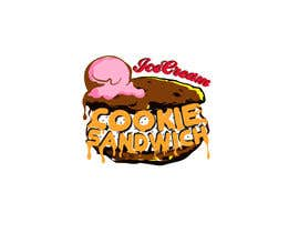 #25 for Cookie iceacream sandwich logo designed. In pop art/ comic theme by draganajovic