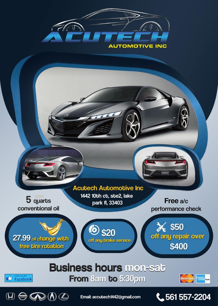 #23 for Design a Flyer for automotive repair shop 4x6 by Artimization