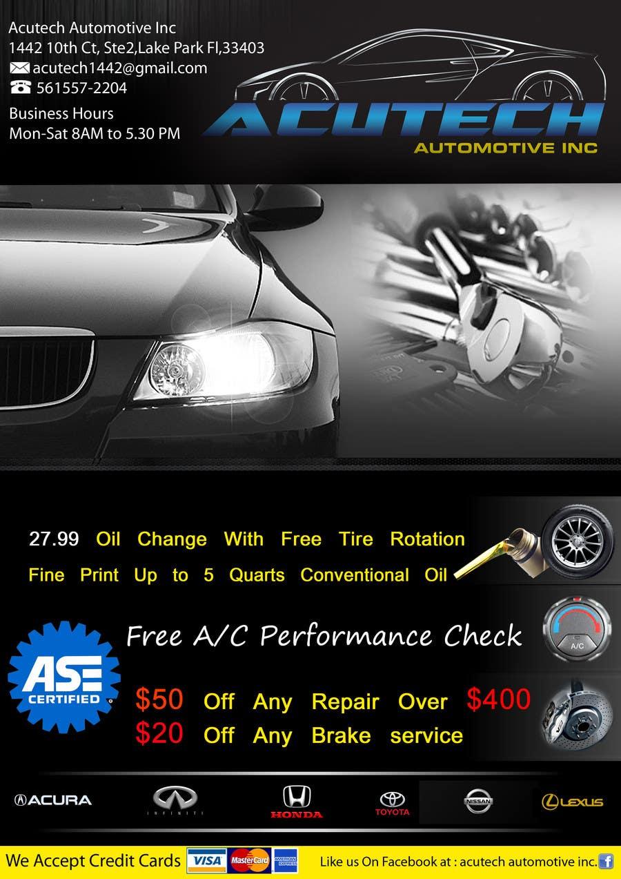 #6 for Design a Flyer for automotive repair shop 4x6 by job2sathishkumar