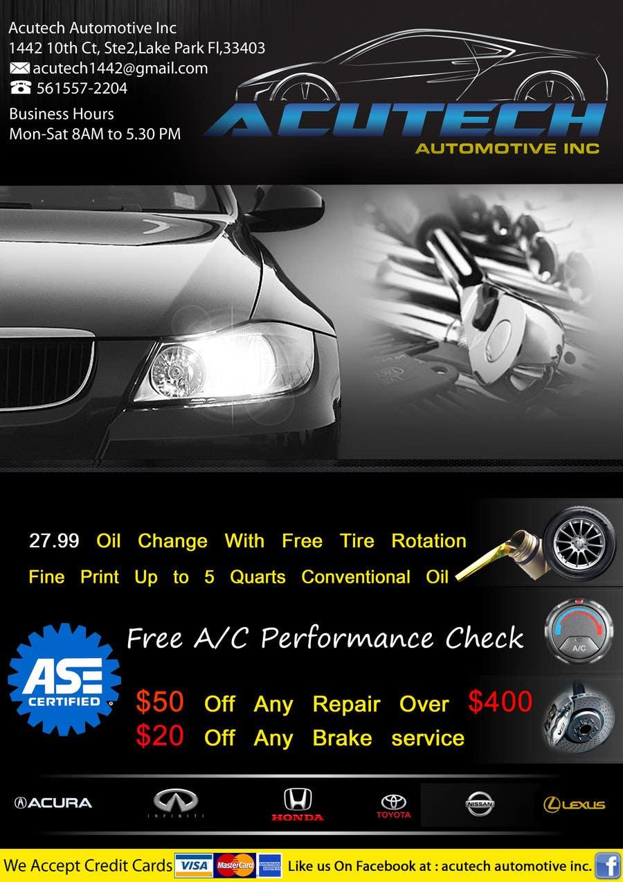 #15 for Design a Flyer for automotive repair shop 4x6 by job2sathishkumar