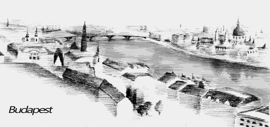 Kilpailutyö #29 kilpailussa B&W Pen & Ink Drawings of Cityscapes Wanted