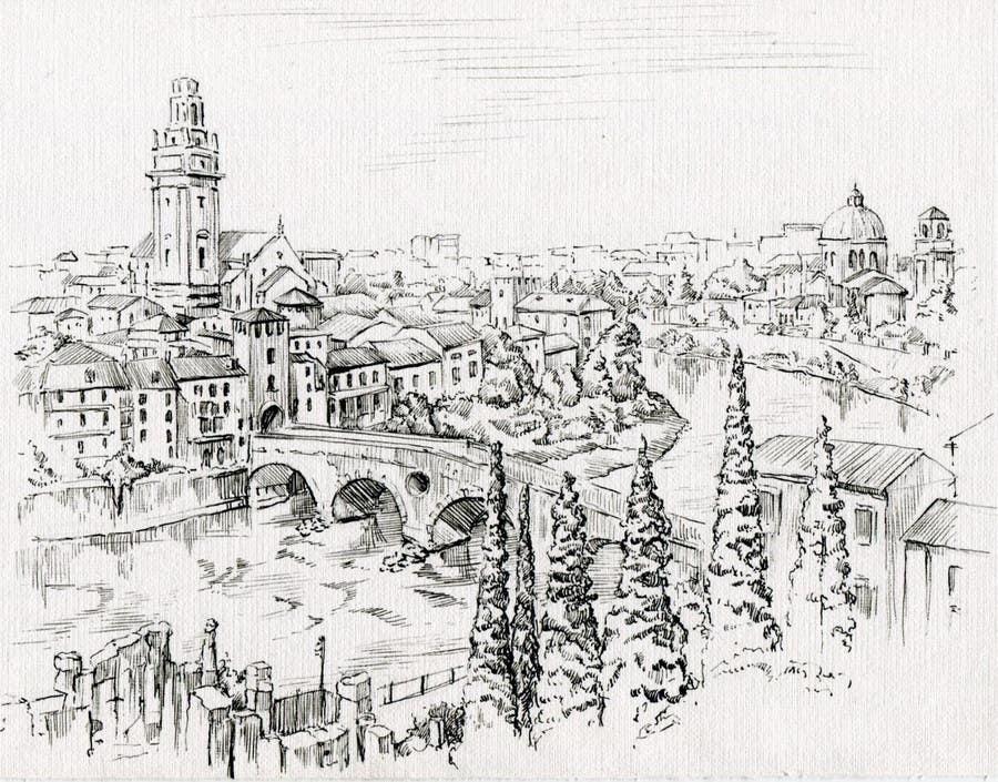 Penyertaan Peraduan #22 untuk B&W Pen & Ink Drawings of Cityscapes Wanted