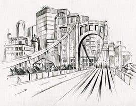 #31 untuk B&W Pen & Ink Drawings of Cityscapes Wanted oleh lausta