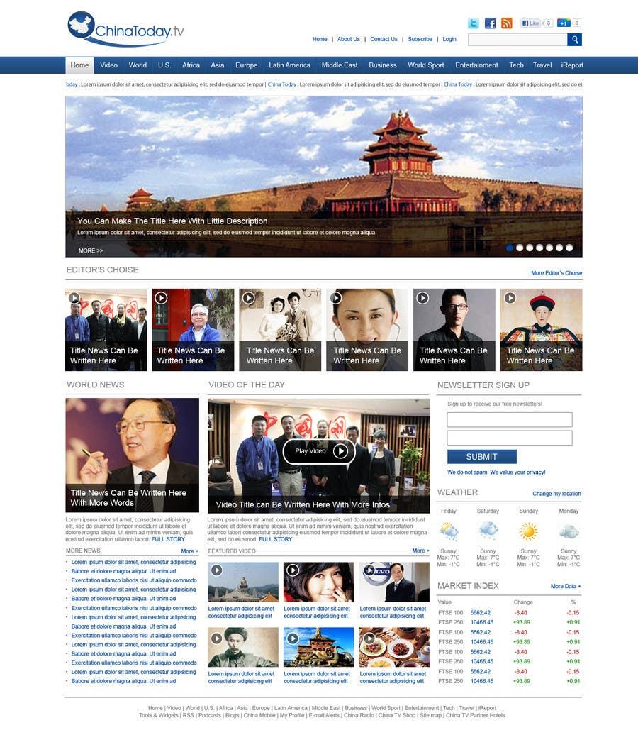 Proposition n°                                        34                                      du concours                                         Website Design for TodayChina.TV
