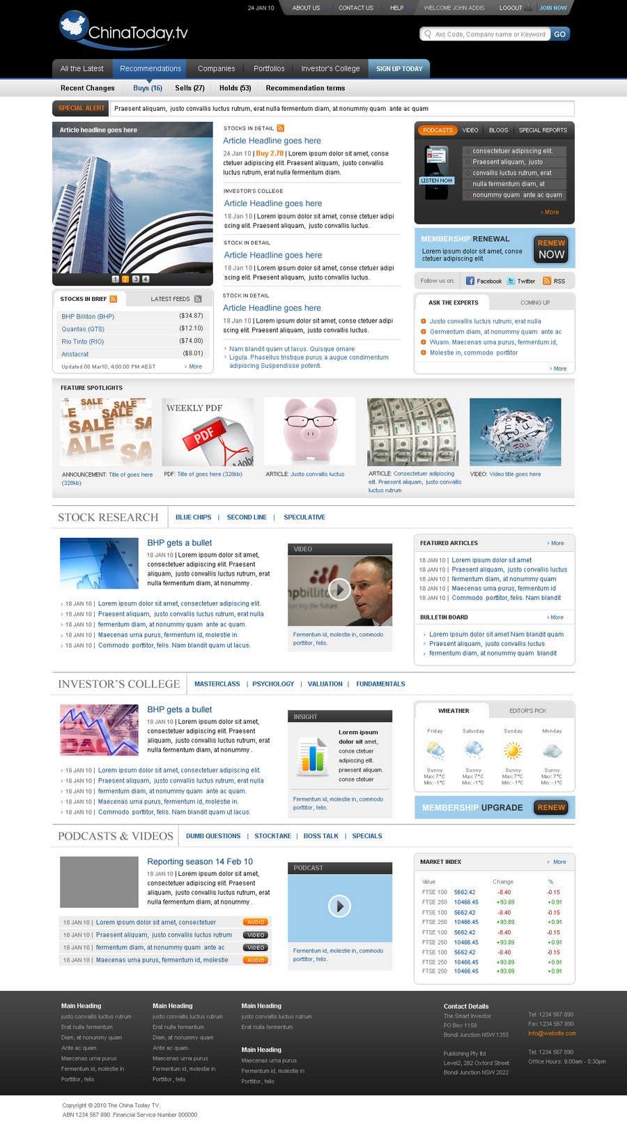 Konkurrenceindlæg #                                        55                                      for                                         Website Design for TodayChina.TV