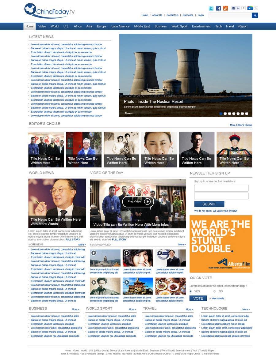 Конкурсная заявка №32 для Website Design for TodayChina.TV