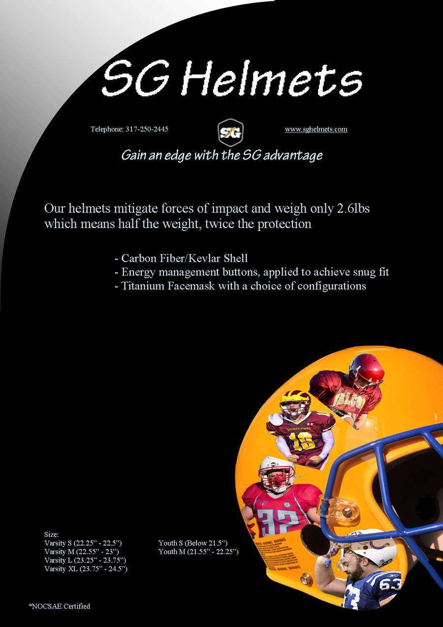 #1 for Design a Brochure for Football Helmets by bluwind