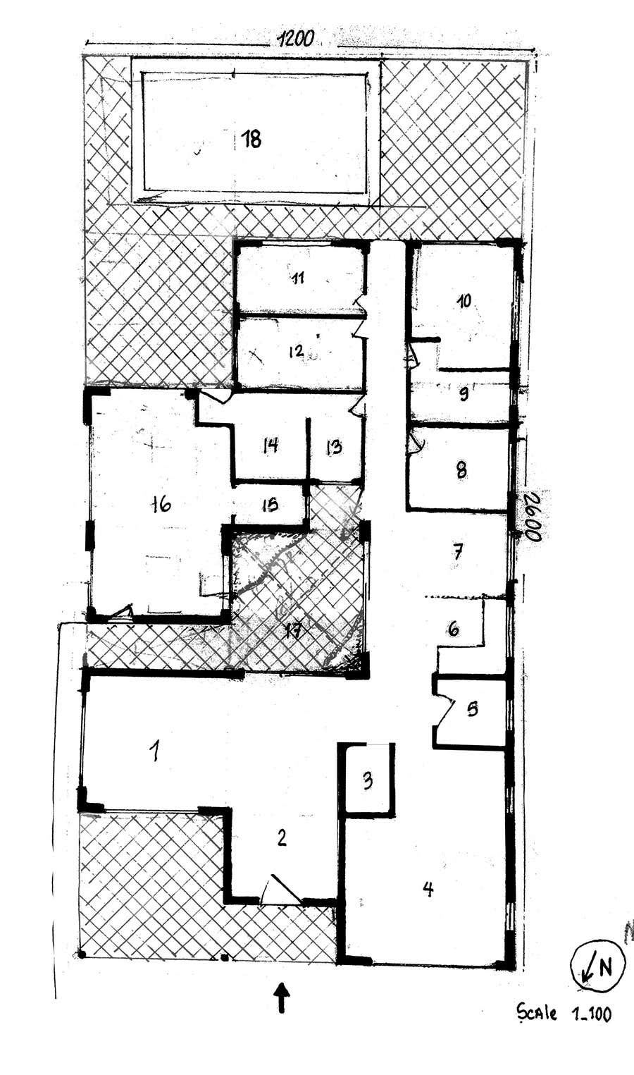 Entry 10 by adalbertoangsosa for design floor plan and for Shop house combination plans