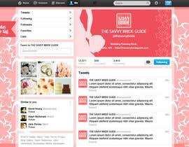 #7 untuk Design a Twitter background for a wedding eBook oleh DanaDouqa