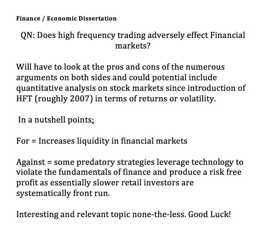 Financial Economics Dissertation Topics