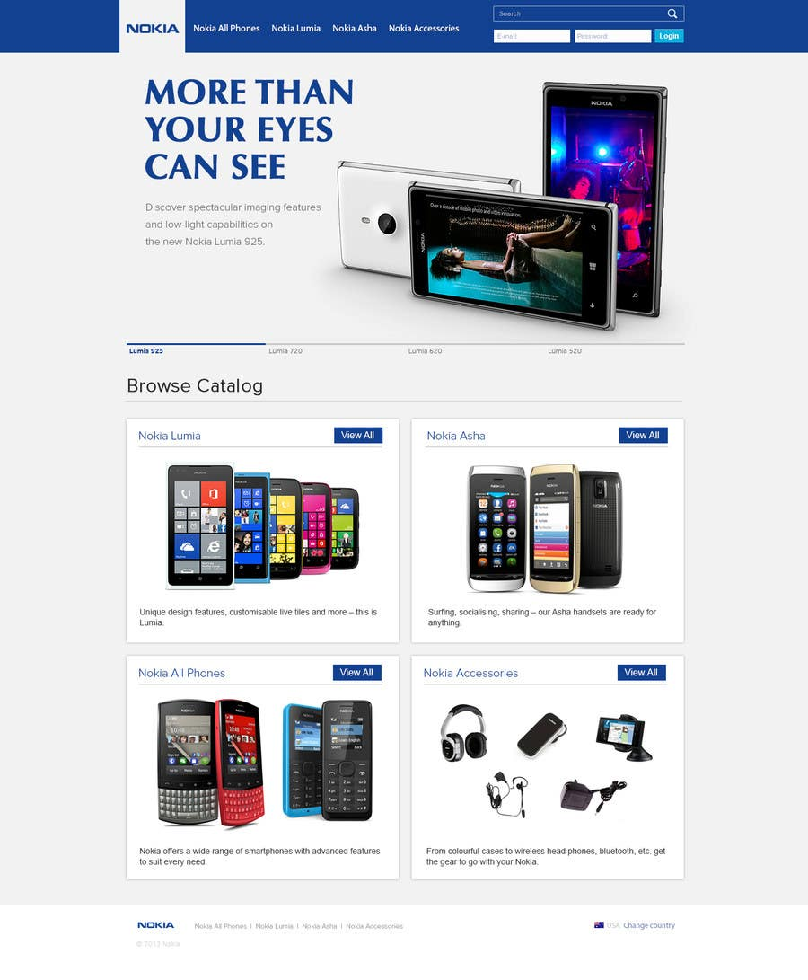 #31 for Design a Website Mockup for Nokia Online Shop - repost by atularora