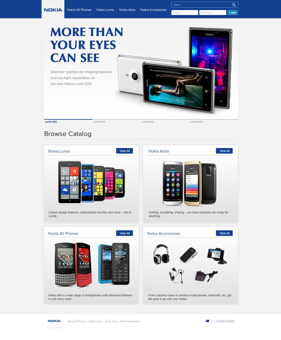 #71 for Design a Website Mockup for Nokia Online Shop - repost by atularora