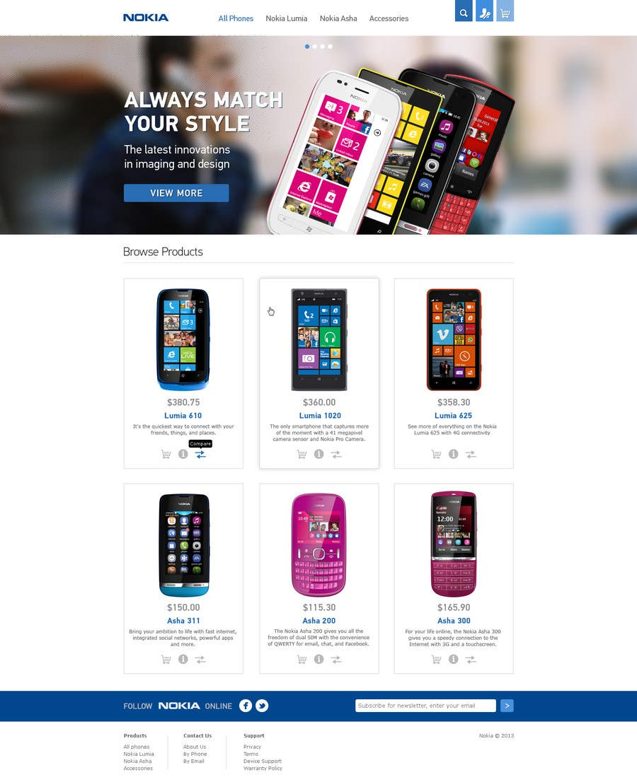#65 for Design a Website Mockup for Nokia Online Shop - repost by artnika