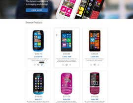 #65 for Design a Website Mockup for Nokia Online Shop - repost af artnika