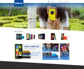 Contest Entry #53 for Design a Website Mockup for Nokia Online Shop - repost