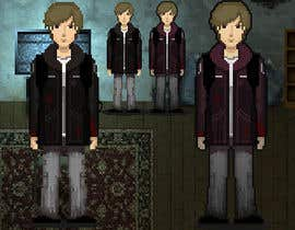 #6 untuk 2D pixel art sprite sheet of main character for an old school zombie apocalypse RPG video game oleh momatoes