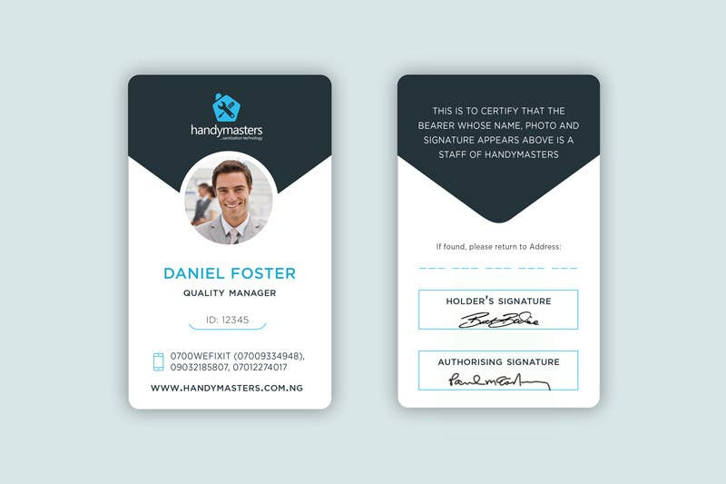 Business card and id card design freelancer for Best home office video cards