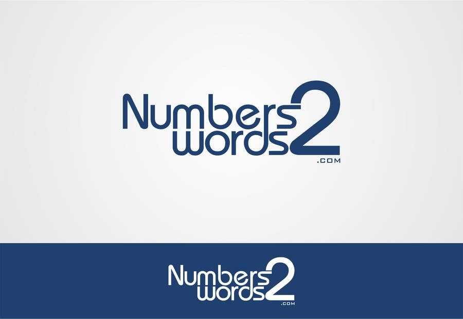 #113 for Design a logo for www.numbers2words.com by trying2w
