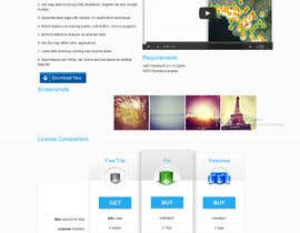 nº 4 pour Software Pricing and Feature Presentation Page with Graphics par codeunderground