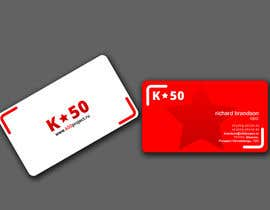 #63 untuk Business cards design for K50 (Разработка визитных карточек) oleh Masumulhaque