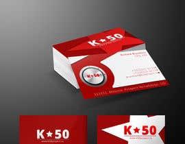 #76 untuk Business cards design for K50 (Разработка визитных карточек) oleh nishantbala