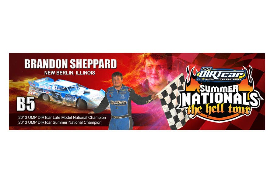 Konkurrenceindlæg #5 for Design a Banner for Brandon Sheppard Racing