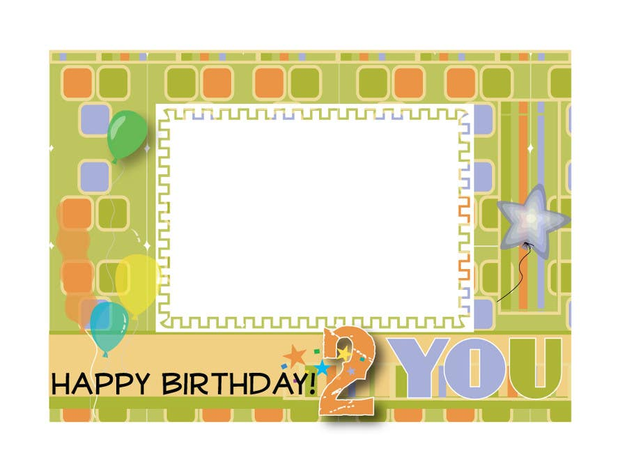 #39 for Design some Stationery for Childs Birthday Photo Card by Dayna2