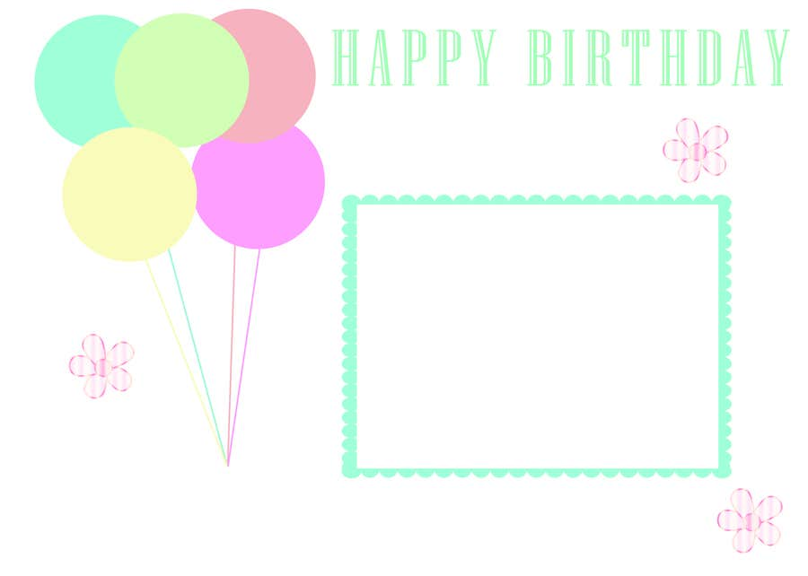 #65 for Design some Stationery for Childs Birthday Photo Card by sobebeauty
