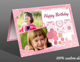 Nro 75 kilpailuun Design some Stationery for Childs Birthday Photo Card käyttäjältä theislanders