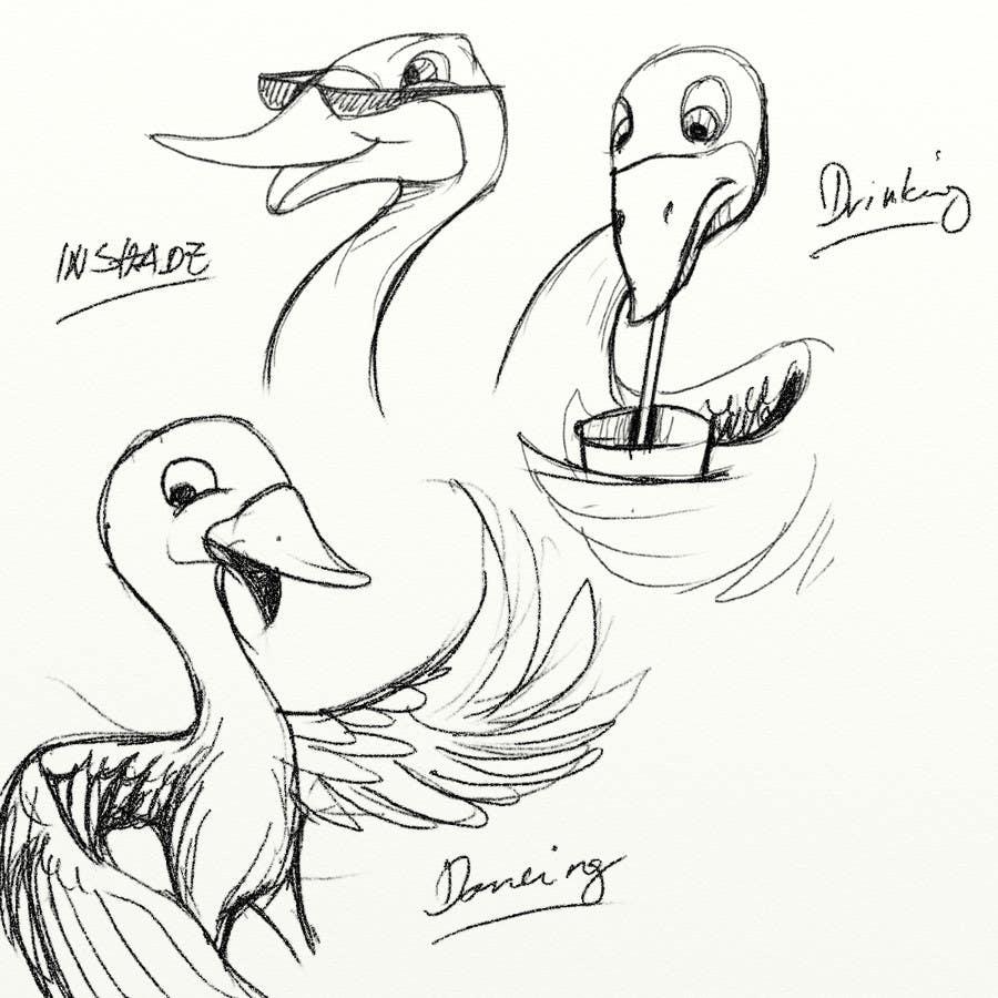 Penyertaan Peraduan #                                        16                                      untuk                                         Draw a goose in several attitudes