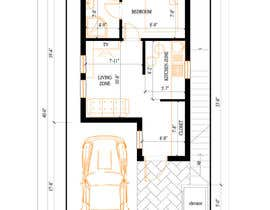 #15 dla House Plan for a small space: Ground Floor + 2 floors przez InnaGeyer