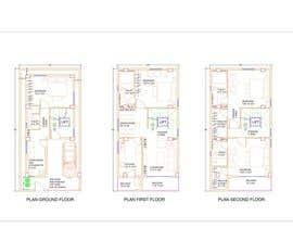 #47 for House Plan for a small space: Ground Floor + 2 floors by arinjaybanerjee