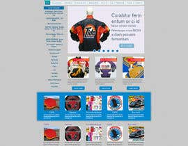 #1 para Design a Website Mockup for one page website domain - www.CustomizedJacket.com por designBox16