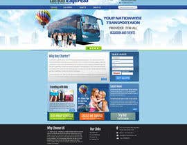 #5 untuk Design a Website and inside pages Mockup and Logo for Bus Rental Company oleh MagicalDesigner