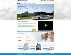 #2 para Design a Website and inside pages Mockup and Logo for Bus Rental Company por geniedesignssl