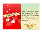 #6 for Design some Stationery for a Wedding Greeting Card by poojark