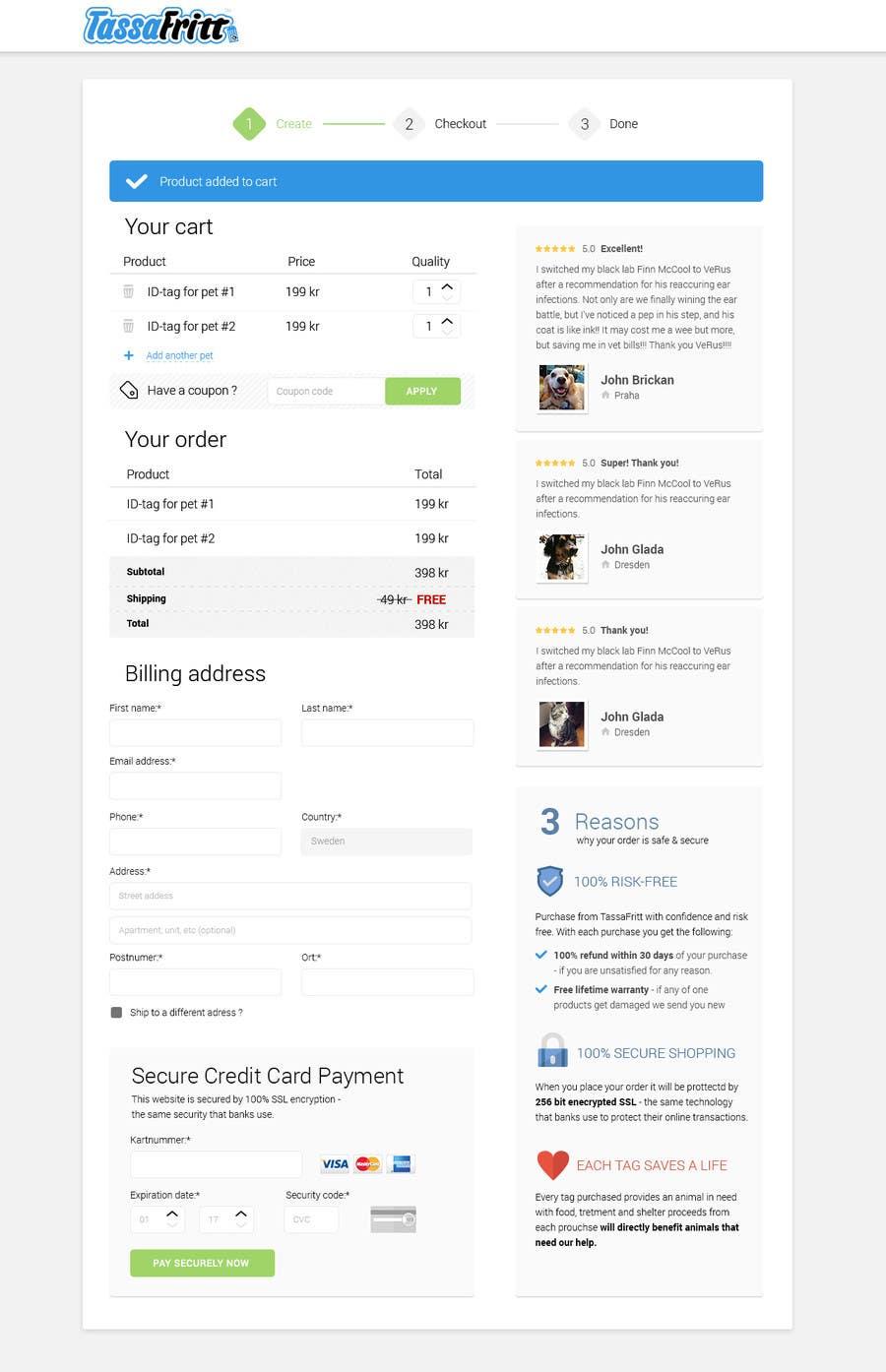 Participación en el concurso Nro.                                        26                                      para                                         Design a Checkout Page (Only design, no coding)